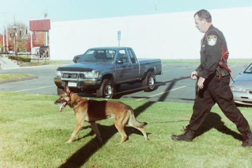 Ofc. Doug Humphrey with K9 Dusty