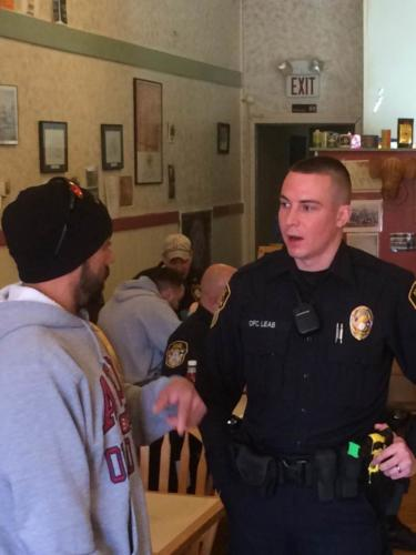 Sgt. Leab at the 2016 Coffee With A Cop event