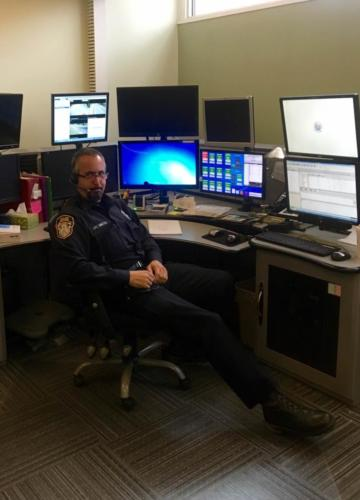 Ofc. David Simoes working Dispatch